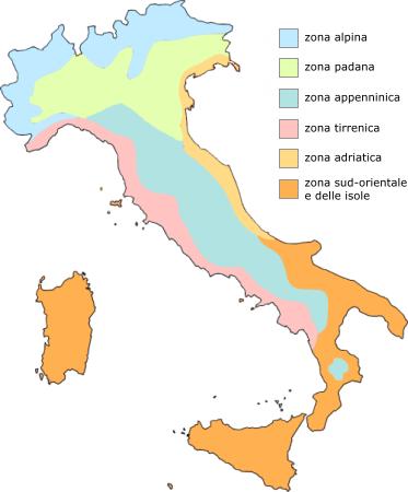 Cartina Dellitalia Con Zone Climatiche.Il Clima In Italia G M P E